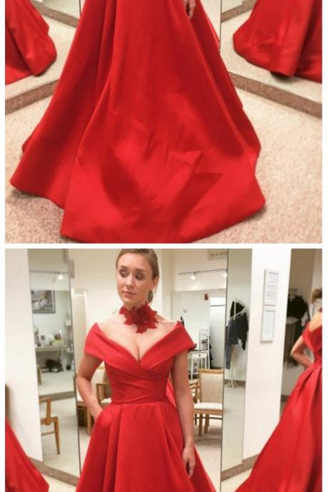Long Prom Dress, A-Line Prom Dress, Prom Dress Red, Prom Dress